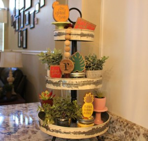 Spring Tiered Tray
