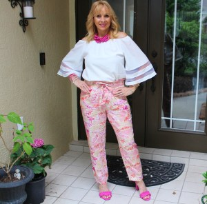 Fashom Pink Print Pants