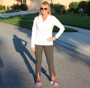 Athleta Cropped Pants + Half Zip Pullover