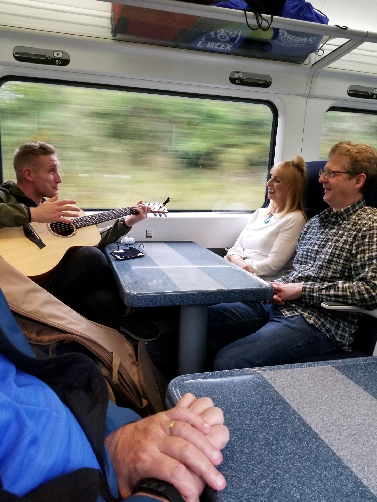 Guitar on Train