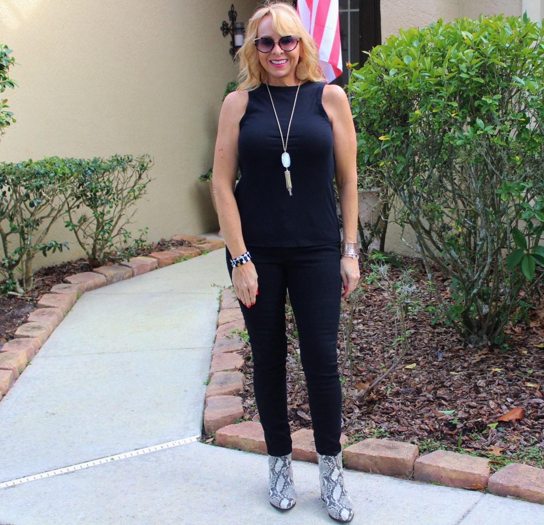Black Tank + Black Jeans