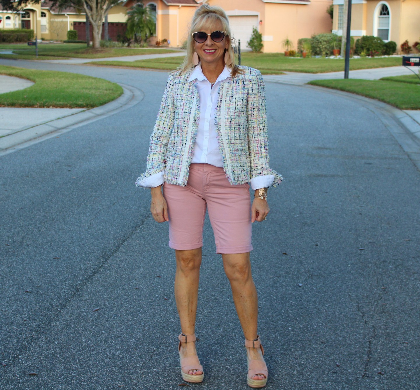 Tweed Jacket + Shorts