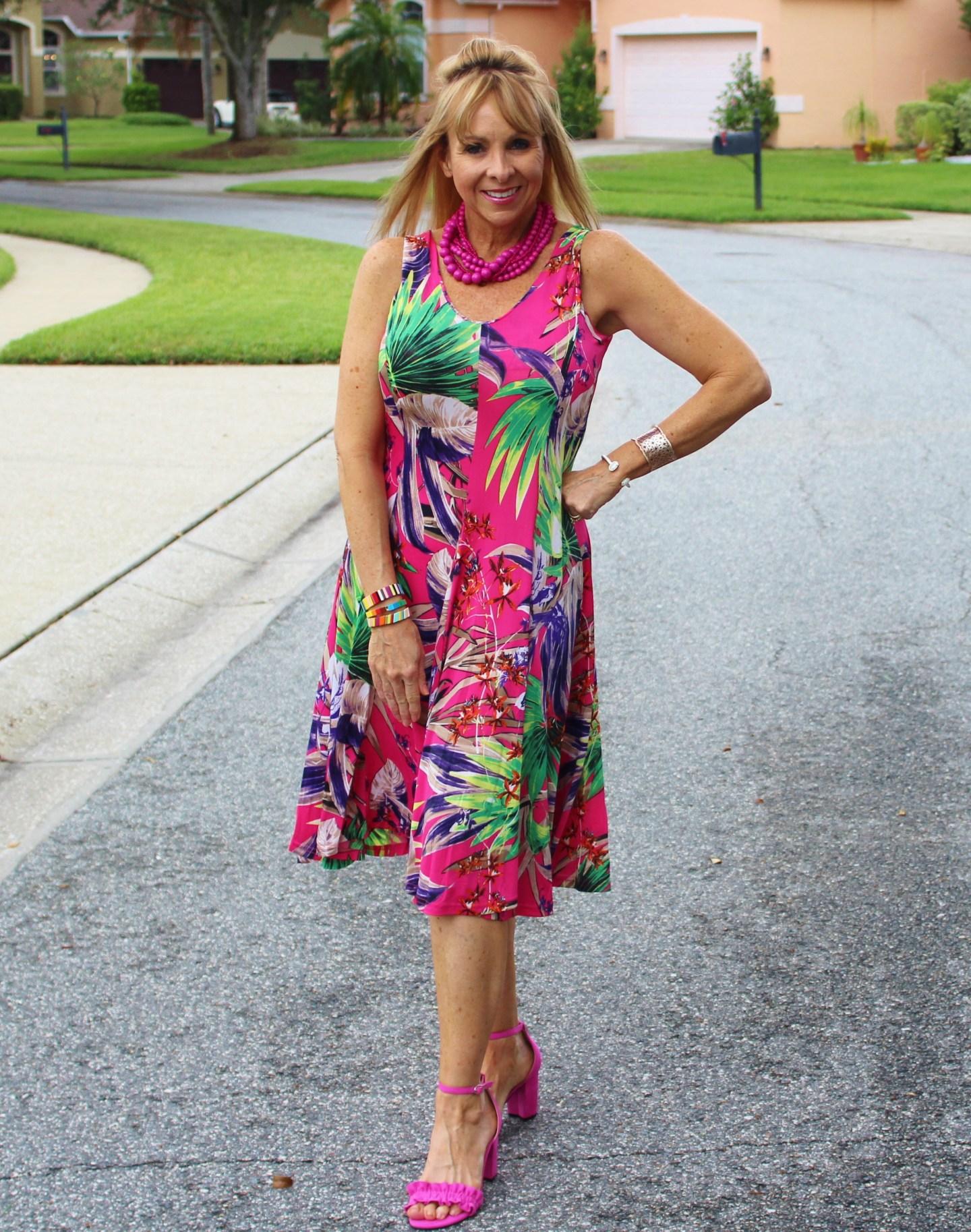 Pink Palm Dress