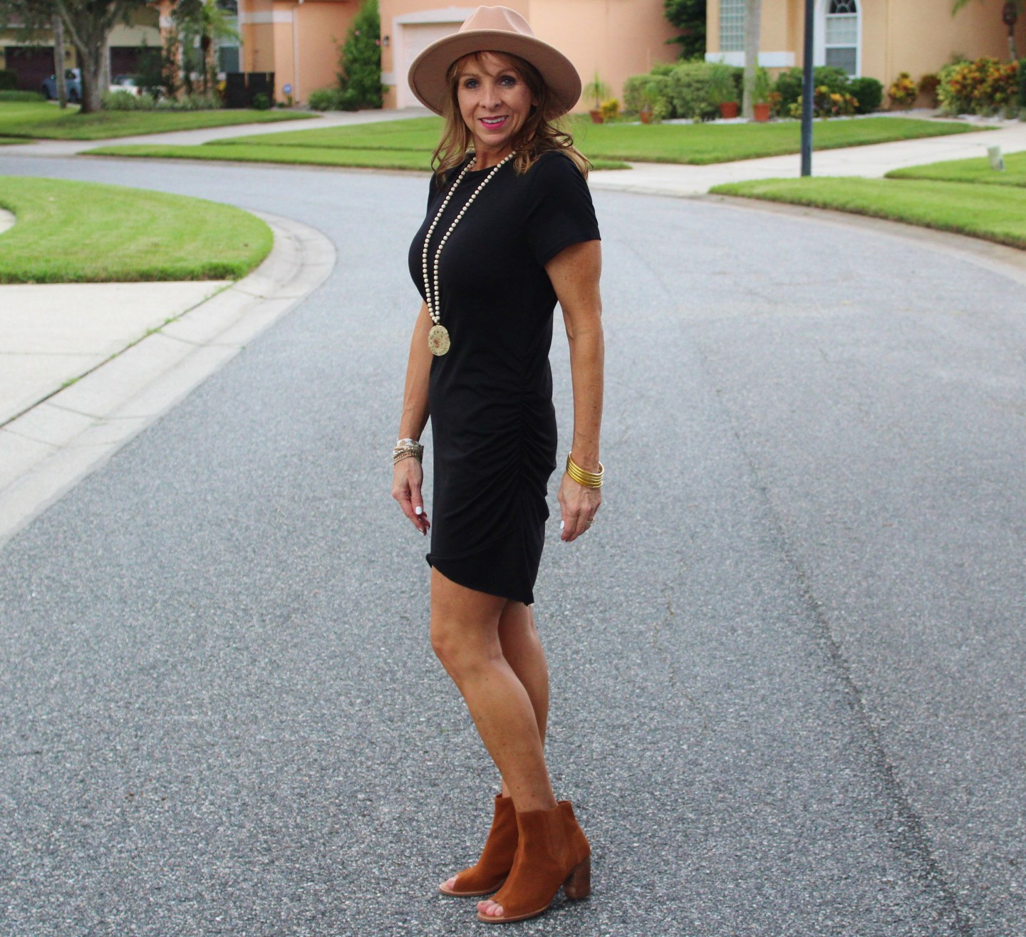 Amazon Dress + Hat + Booties