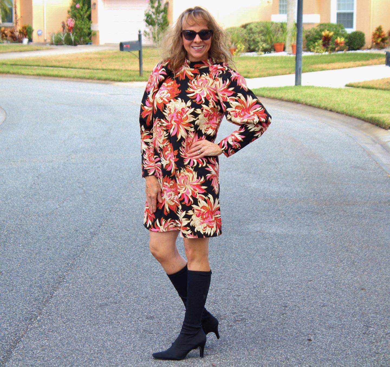 Target Floral Dress + Sock Booties