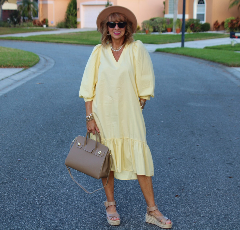 Yellow Target Dress