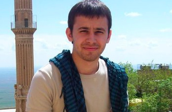 Furkan Dogan in Turkey before he was killed on a peace voyage to Gaza by Israeli Defense Force boarders