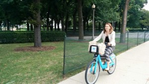 Chelsea Smith biking