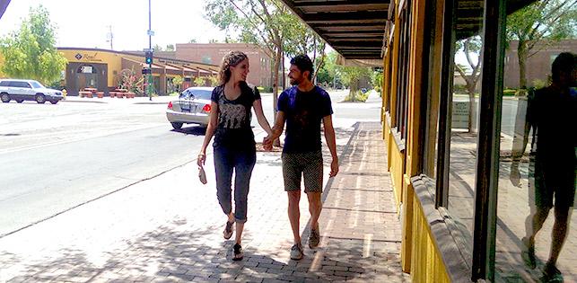 Walking in Downtown Phoenix