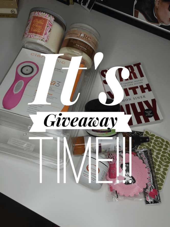 Giveaway, Start with Why, Clarisonic Mia 3, Bath and Body Works, Simon Sinek, Inspired Beauty, LRC, The Potion, Chromae, Notebooks, Lifestlye Blog, Natural Hair Blog, Plus Size Fashion, Visa Gift Card,