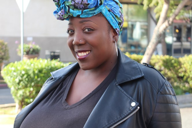Plus Size OOTD, OOTD, Outfit of the day, All Black, Fashion, Style, Leather Jacket, Skinny Jeans, Boots, Head scarf, Plus Size Blogger, Plus Size Fashion, Curvy, Curves, Style Blog, All Black