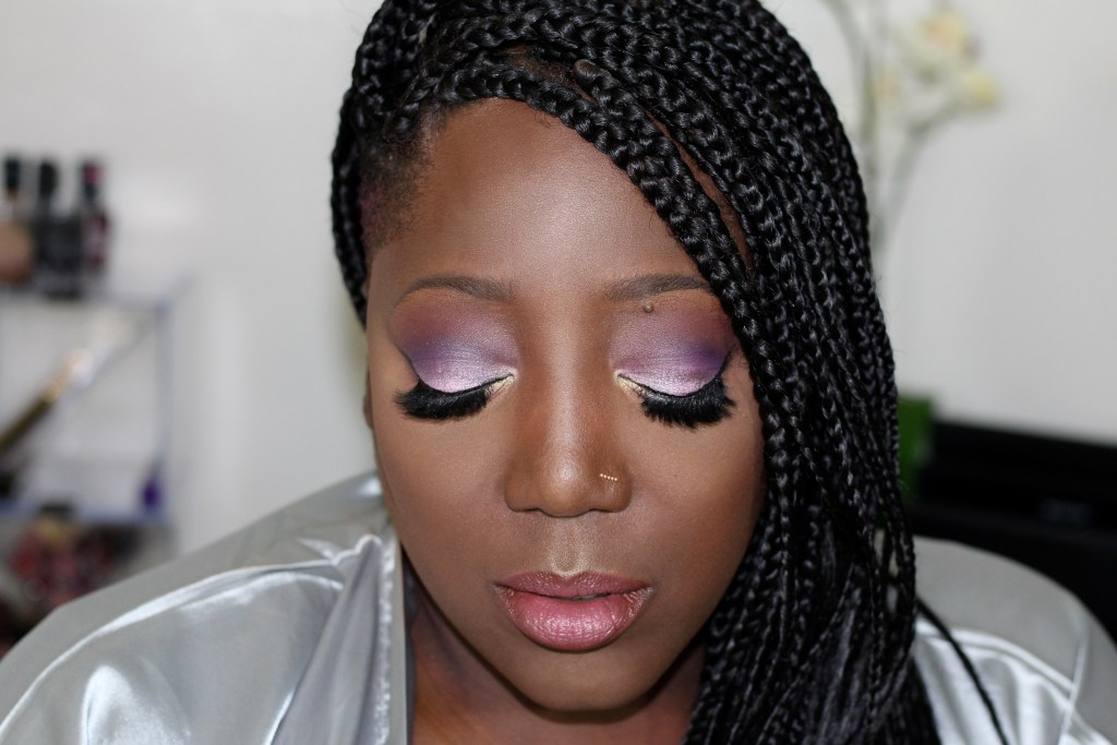 Springtime Makeup look, Springtime Purple, Make Up, Get Ready with Me, Make up tutorial, Make Up for Dark skin, Make up for women of color, Inglot, Maybelline, MAC, Lancome, Purple eyeshadow, Purple eye look, beauty blog, Beauty Blogger, Lifestyle blog, Natural hair, Fashion, Style blog, Style, Blogger, bblogger, This Curvy Girls Life
