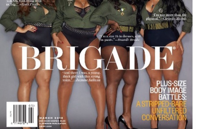 Ebony Magazine, Body Brigade, Plus Size, Lifestyle, Body image, GabiFresh, Jazmine Sullivan, Chrisette Michele, Danielle Brooks, Women of Color, Plus Size Celebrities