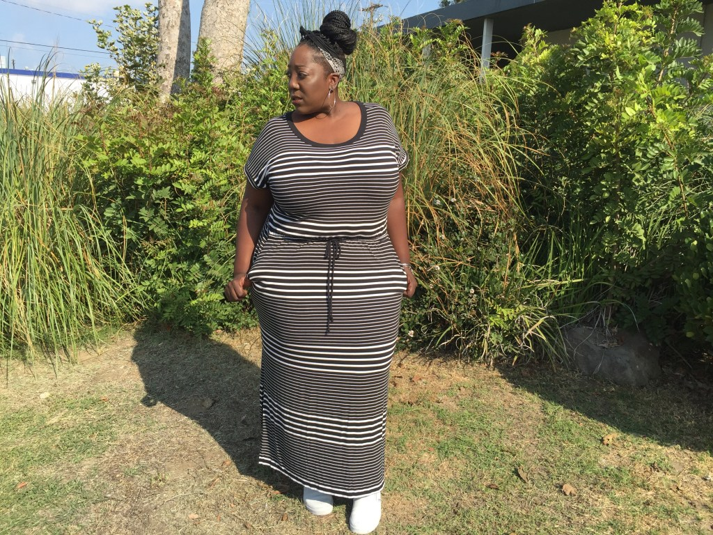Ava & Viv, Target, Targetstyle, Maxi Dress, Black and White, Causal fashion, Plus Size, Plus Size Fashion, Fashion, Style, Fashion blogger, Style Blogger, Curvy Girl, Plus Size clothing, PSblogger, Vans, Macys, Nordstroms, Natural Hair,