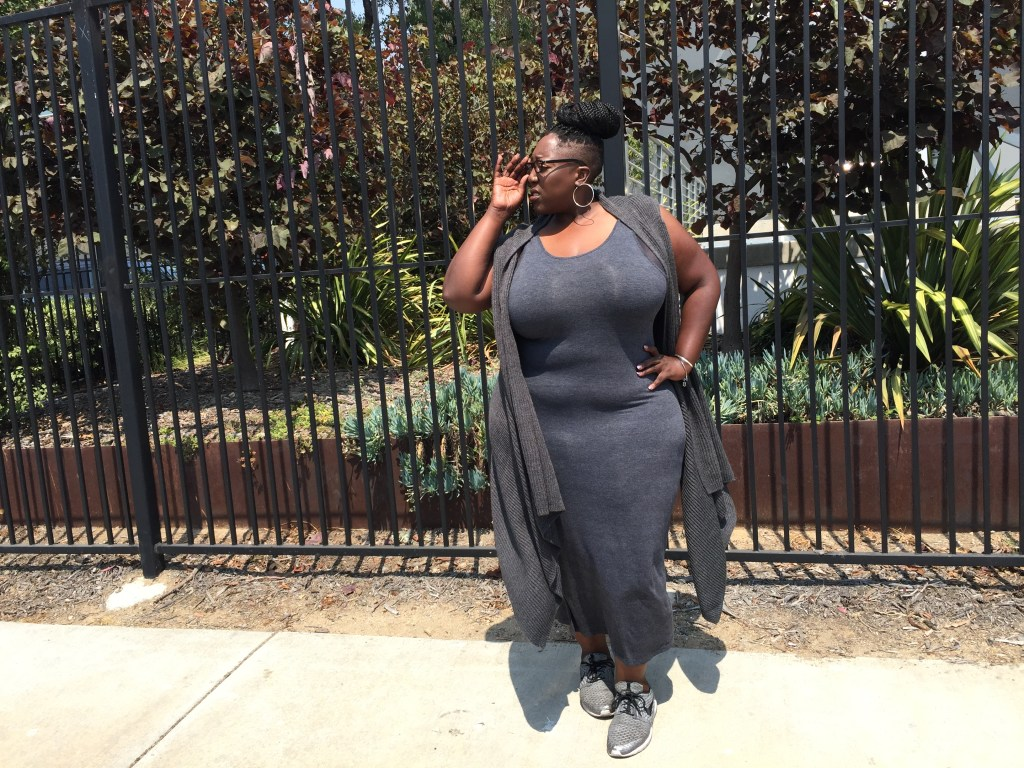 Ava and Viv, Forever21+, Plus Size, Plus Size Fashion, Fashion, Style, Style Blogger, Fashion Blogger, Lifestyle blog, Nike, Fly Knit, Dress, Waterfall Vest, Summer fashion, Fall Fashion, Youtube, Fashion video, Fashion for Curvy Girls, This Curvy Girls Life, Jana'e Michelle