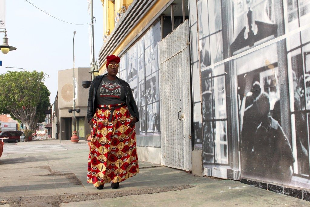 Afro Centric, Plus Size, Fashion, Plus Size Fashion, Style, African Print, Maxi Skirt, African Print Skirt, Leather Jacket, Muhammad Ali, Thrilla In Manila, Lucky Brand, Sister Makeba, Forever21, Graphic Tee Outfit, Plus Size Outfit, OOTD, Outfit of the Day, Edgy Style