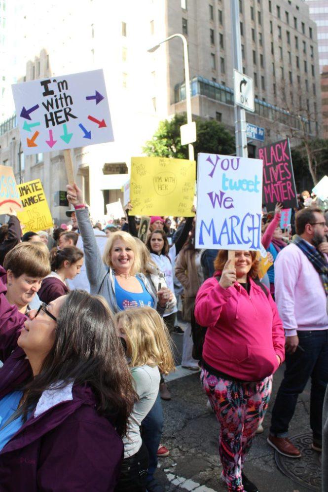 Women March, Womens March Los Angeles, Downtown LA, Unite, Sisterhood, Womens March Washington DC, This Curvy Girls Life, Jana'e Michelle