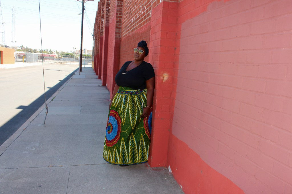 Sister Makeba, Target style, Ava and Viv, African Print, Maki Skirt, Outfits with a Tee, Dashiki print, Plus Size Fashion, Fashion, style, Outfit of the day, OOTD, Fashion for Plus Size Women, Plus Size Blogger, Janae Michelle, This Curvy Girls Life