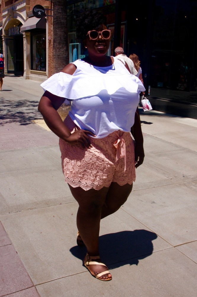 Torrid, Lane Bryant, Crochet Shorts, Off the Shoulder top, Summer Outfit, Summer Fashion, Plus Size, Plus Size Fashion, Style, Plus Size Looks, Plus Size Outfit, This Curvy Girls Life, Janae Michelle