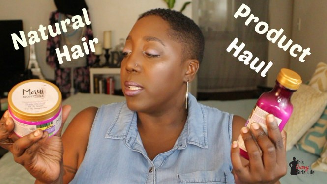 Natural Hair Haul, Natural Hair Products, Natural Hair Styling Aids, Shea Moisture, Maui Moisture, OGX, Dove, Aussie, Garnier Whole Blends, Natural Hair, 4C hair, Wash n Go, TWA, Conditioner, Hair Masks, Defining Cream, Styling Milk, This Curvy Girls Life