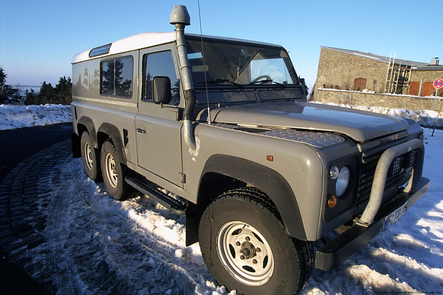 graphy and Journey Foley 6x6 130 Land Rover Defender