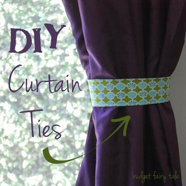 diy fabric curtain ties this fairy