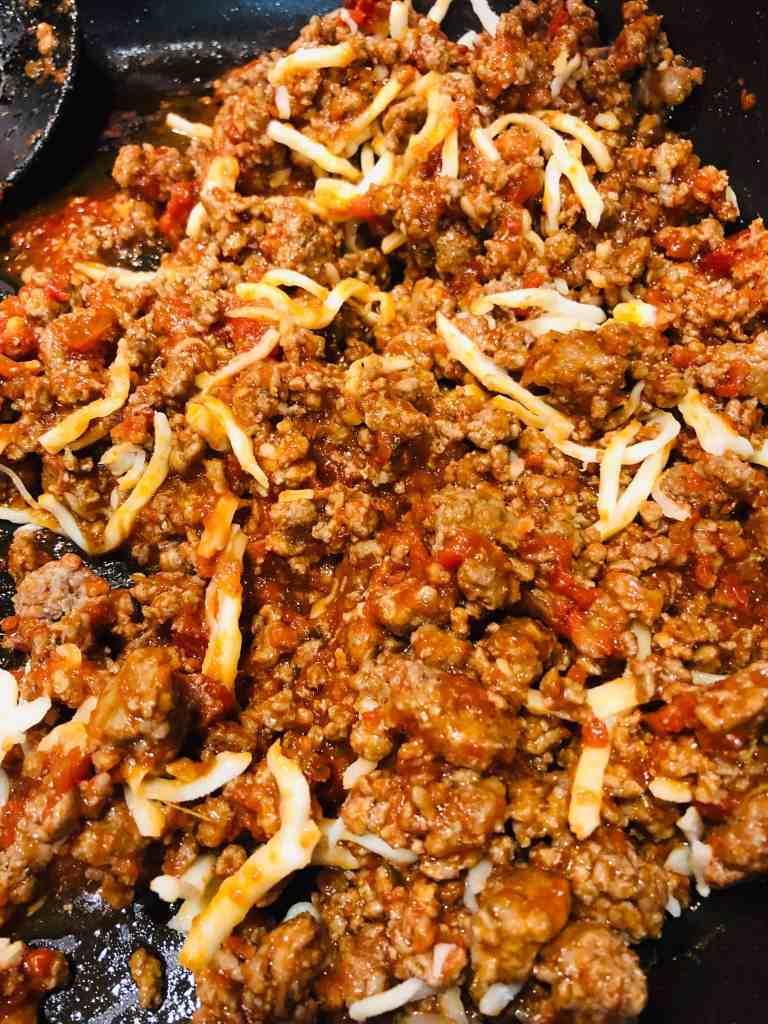 meat filling for easy lasagna cups