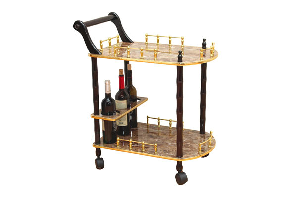 marble-serving-cart