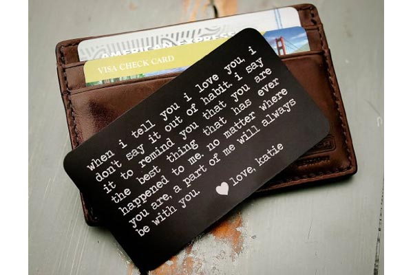 wallet card valentines gifts for him
