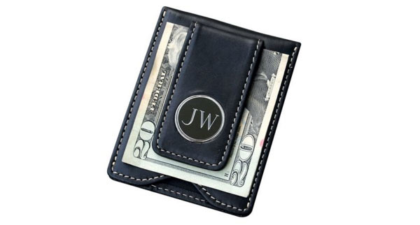 leather gifts for husband money clip