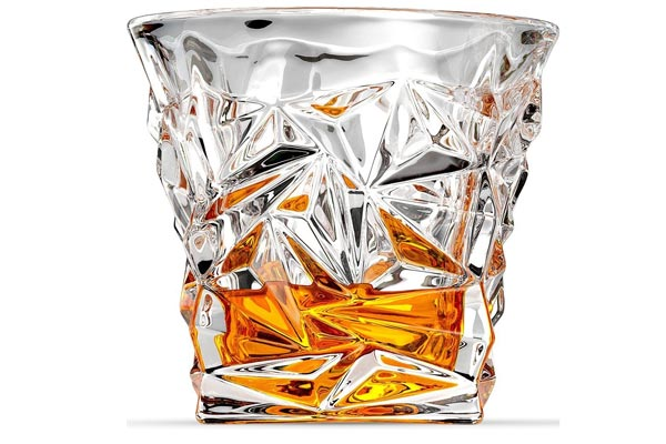 small gifts ideas for men whiskey glass diamond cut