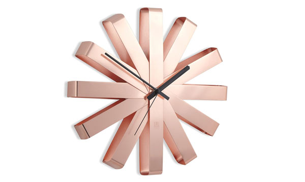 copper gifts for him wall clock