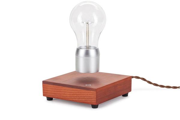 levitating light bulb for his birthday