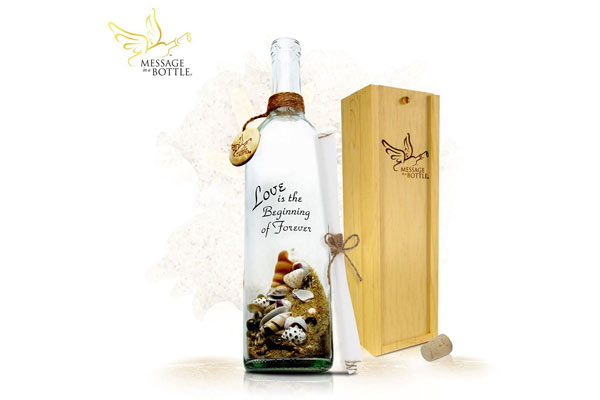 romantic birthday gifts for him message in the bottle