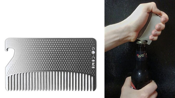unusual gifts for men comb