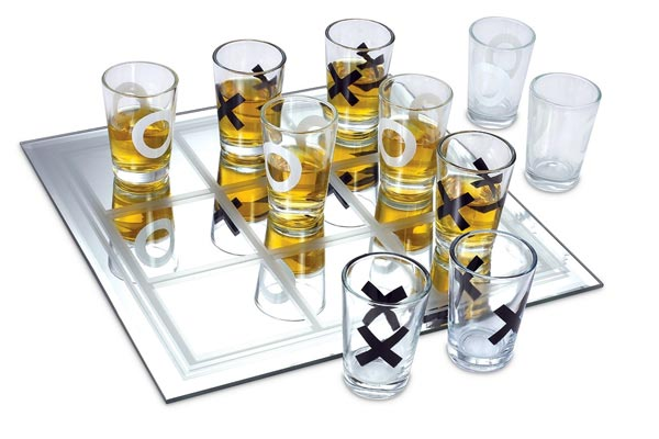 fun gifts for him tic tac toe shot glass