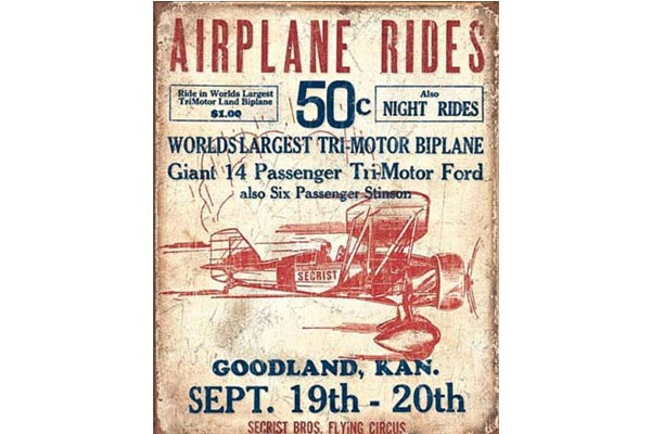 gifts for airplane lovers tin sign