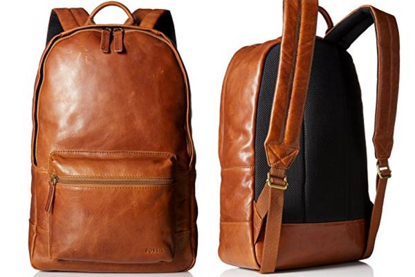stylish gifts for him leather backpack