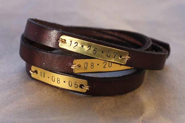 creative handmade gifts for boyfriend leather bracelet