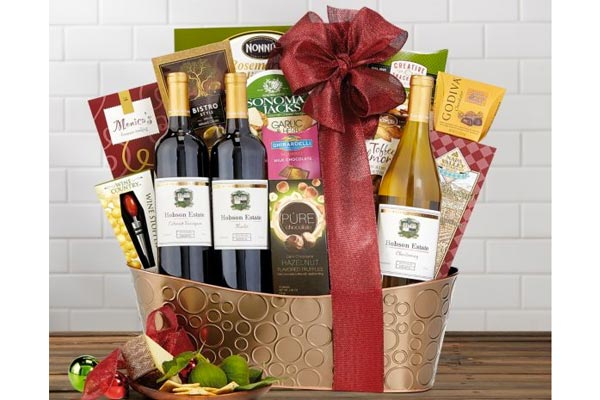 gift baskets for men wine