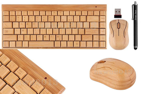 gifts for men under 50 wooden keyboard