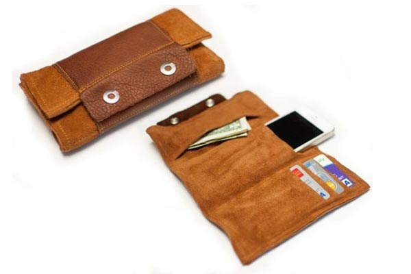 handmade gift ideas for him leather wallet