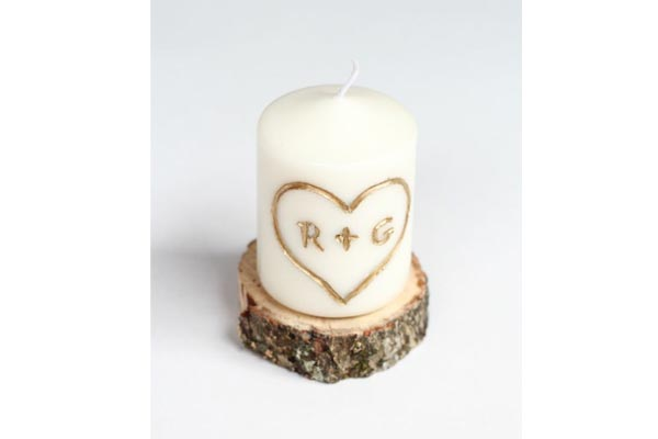 handmade gifts for husband birthday carved candle