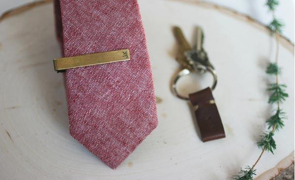 handmade present for boyfriend tie clip