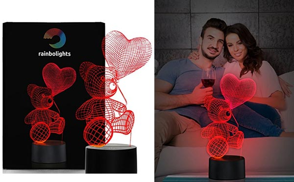 romantic birthday gifts for husband illusion light