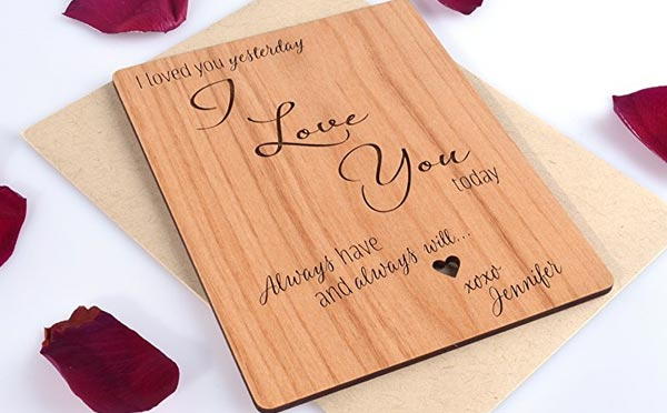 romantic birthday gifts for husband wooded card - This Gifts for Men