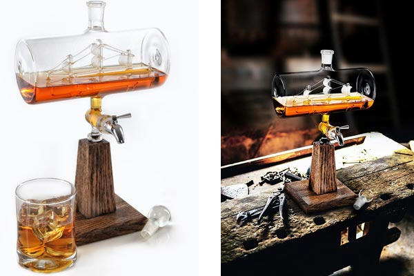 whisky gifts for him hand blown decanter
