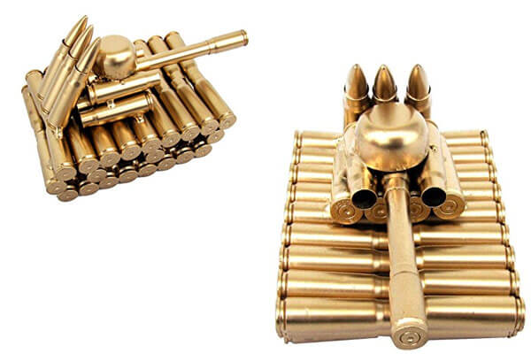 small presents for guys tank made from bullet