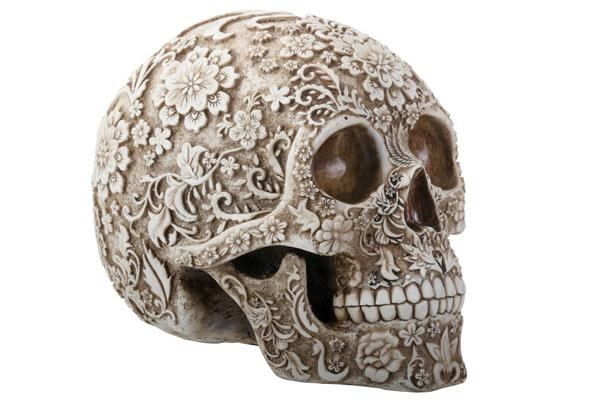 top presents for men skull figurine