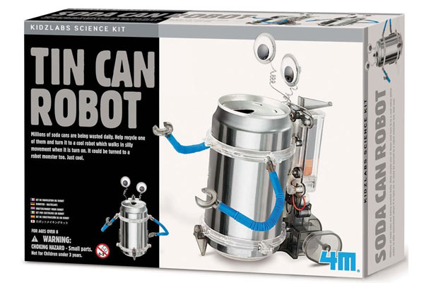unique birthday gifts for him tin can robot